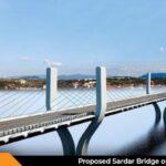 Proposed Sardar Bridge on Narmada Bharuch